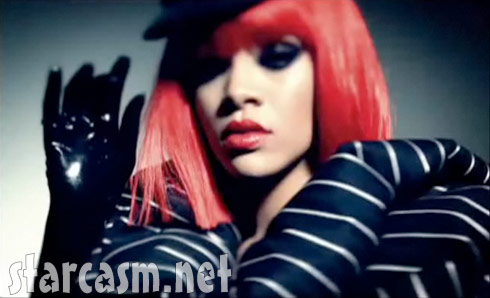 Rihanna from the music video for Rockstar 101