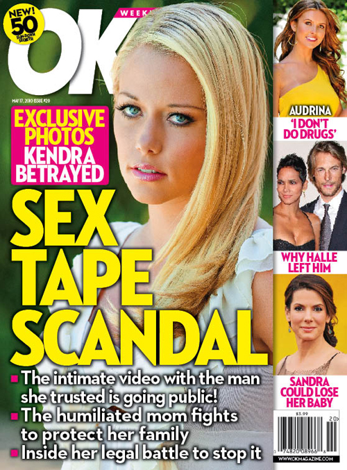 Kendra Wilkinson sex tape OK! Magazine cover May 5, 2010