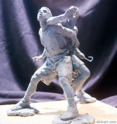 Abdi Farah baskeball players sculpture