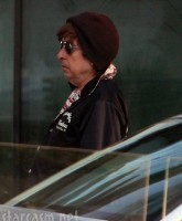 Bob Dylan relaxing in Bratislava, Slovakia