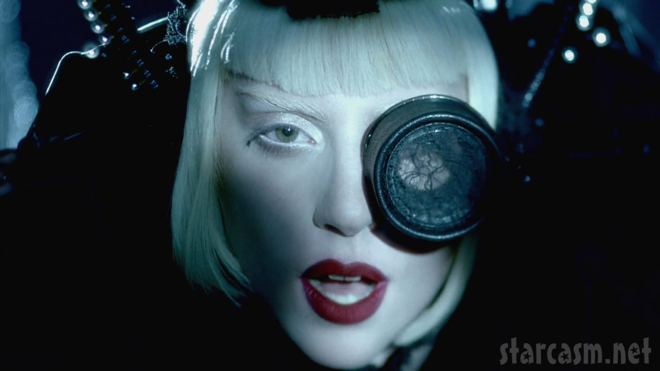 Lady Gaga and her goggle from the Alejandro music video