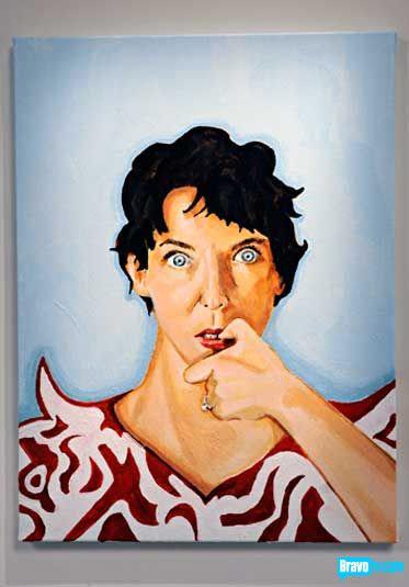 Nicole Nadeau's portrait of Peregrine Honig from Work of Art