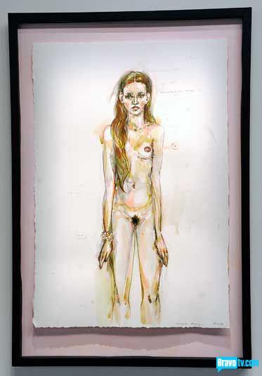 Peregrine Honig's portrait of Nicole Nadeau from Work of Art