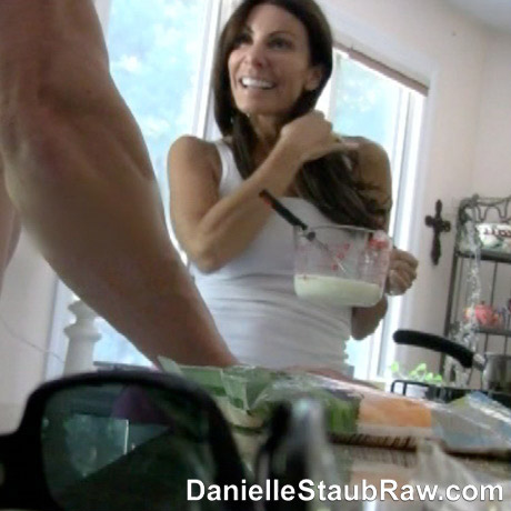 Daniel Staub and a mystery man from her sex tape