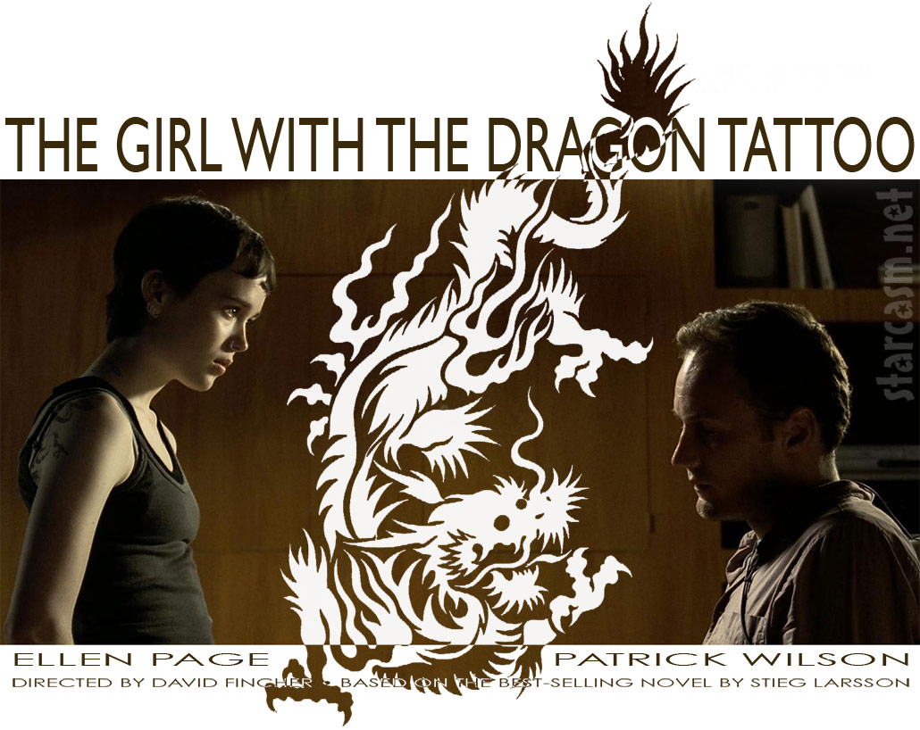 The Girl with the Dragon Tattoo US movie poster with Ellen Page