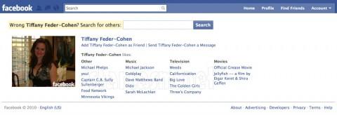 Tiffany Feder-Cohen Facebook profile