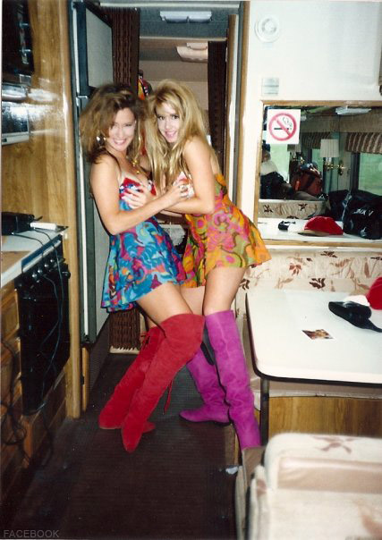 Camille Donatacci Grammer gets all bisexual and grabs the breasts of one of her Club MTV costars