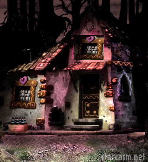 The witch's candy cottage from the Hansel and Gretel in 3D movie