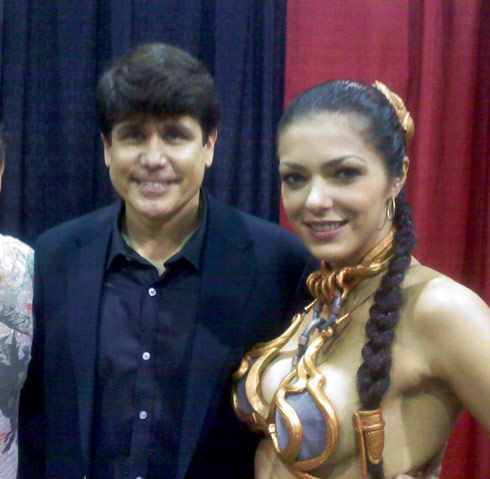 Rod Blagojevich and slave Princess Leia Adrianne Curry