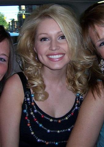 Britney Haynes on her way to the Tony Awards