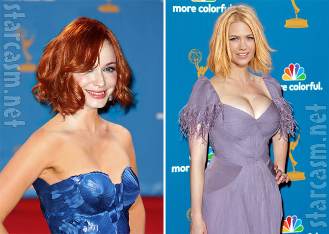 Christina Hendricks and January Jones swap heads