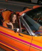 Jessica Alba's ride to the Machete Premiere