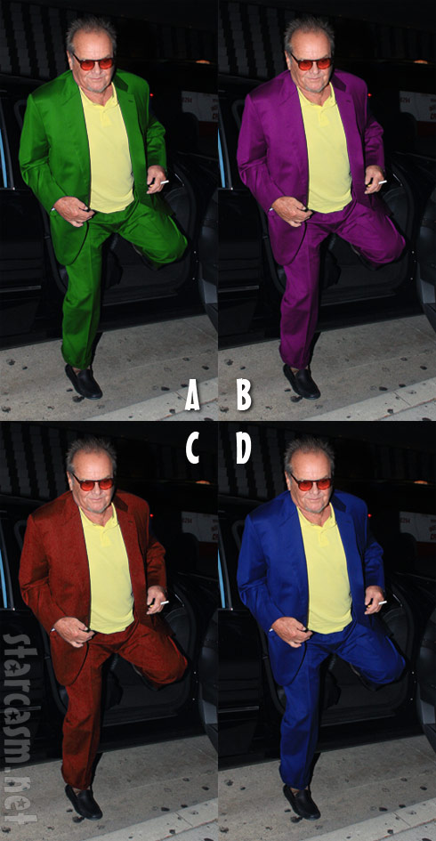 Can you guess which is the true Jack Nicholson fashion statement?