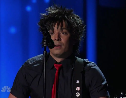 Jimmy Fallon as Green Day on the 2010 Emmy Awards