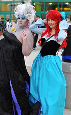 Traci Hines as Ariel and Lisa Fabio as Ursula from The Little Mermaid