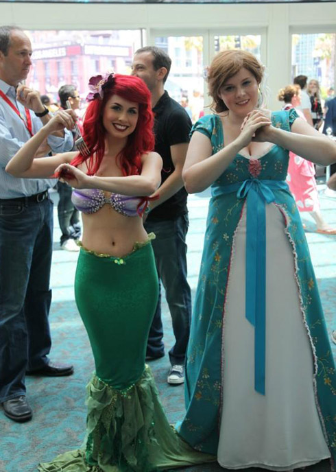 Full-length shot of Traci Hines as The Little Mermaid at 2010 Comic-Con