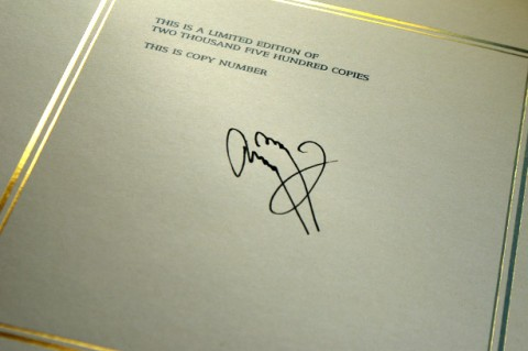 Jimmy Page is signing each copy of his beautifully produced self titled autobiography