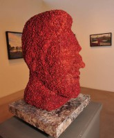 Kevin Bacon Statue made entirely of bacon
