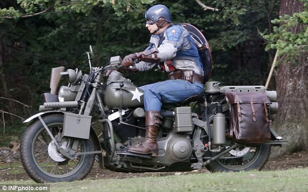 Picture from the set of Captain America: The First Avenger