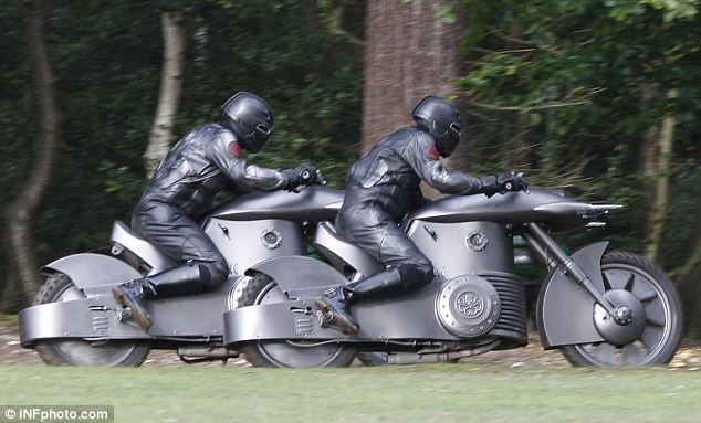 Hydra motorcycles from the set of Captain America: The First Avenger