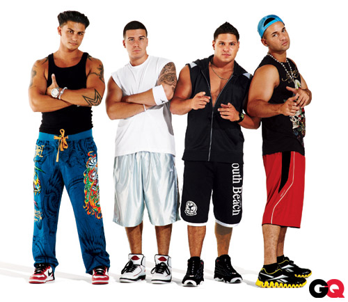 Pauly D, Vinny, Ronnie and The Situation from Jersey Shore in GQ