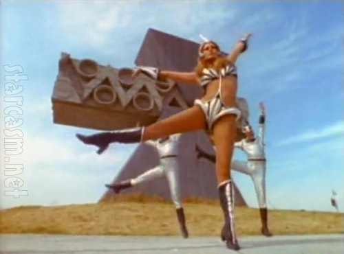 Raquel Welch space girl dance from 1970