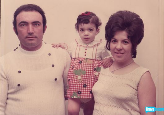 Teresa Giudice as a child with her mom and dad