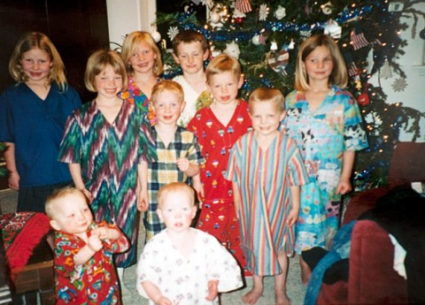 TLC's Sister Wives kids at Christmas time