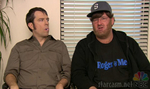Andy as Bill Compton and Kevin as Michael Moore