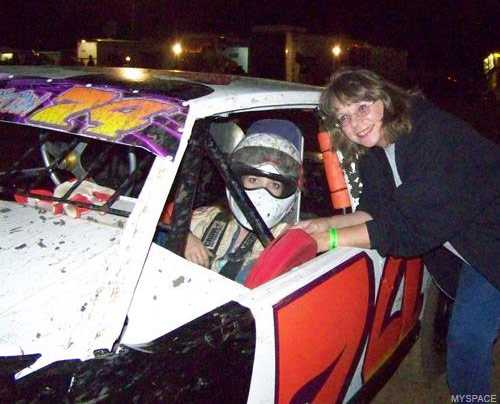 Brooke Smitherman-Tarrant in her racing car