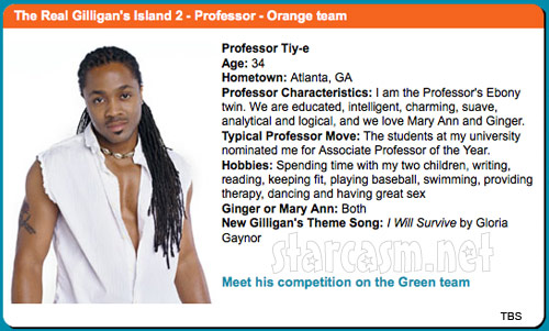 The Professor Tiy-E Muhammad The Real Gilligan's Island profile
