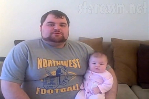 Teen Mom's Gary with daughter Leah in a Biggest Loser application video