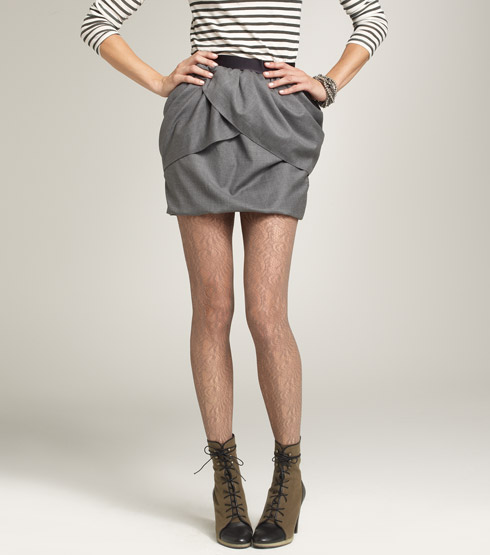 J. Crew lace tights that look like hairy legs from a distance