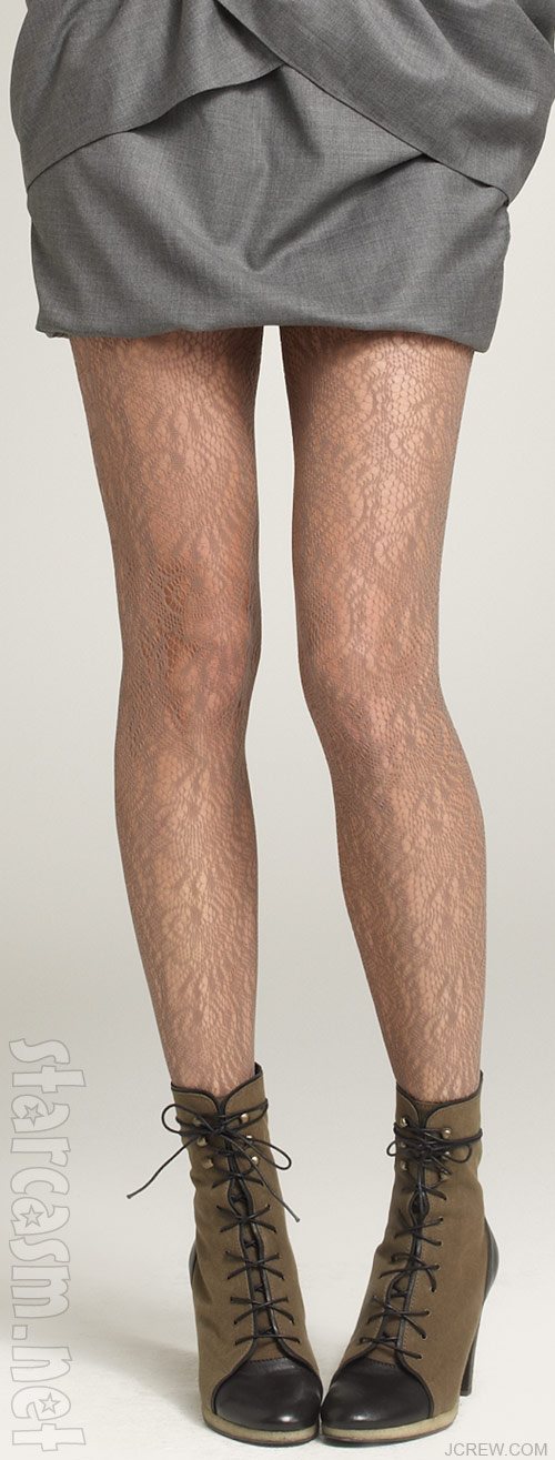 J. Crew lace tights that make your legs look hairy from a distance