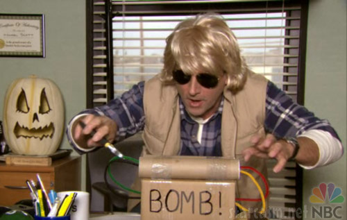 Michael Scott as MacGruber of The Office's Halloween costume constest episode