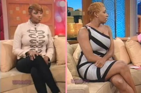 NeNe Leakes in a side-by-side comparison