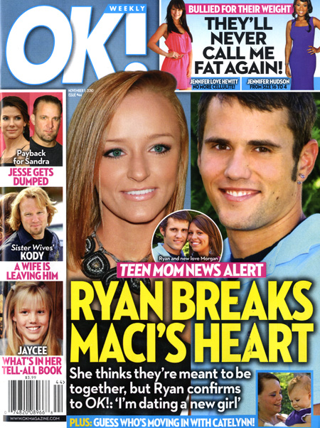 Teen Mom Maci Bookout and Ryan Edwards on the cover of Ok! Magazine