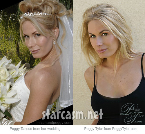 Peggy Tanous is model Peggy Tyler side by side photos