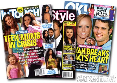 Teen Mom tabloid covers