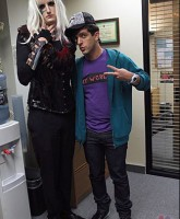 Gabe and Ryan from the Office as Lady Gaga and Justin Bieber