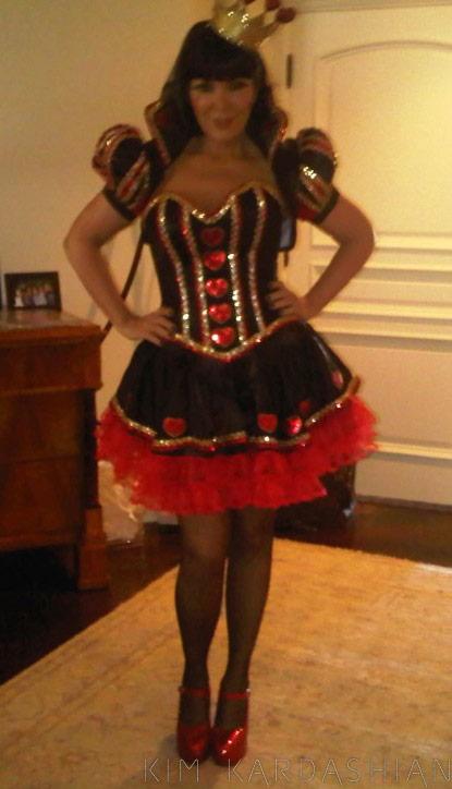 Kris Jenner in a Queen of Hearts Halloween costume
