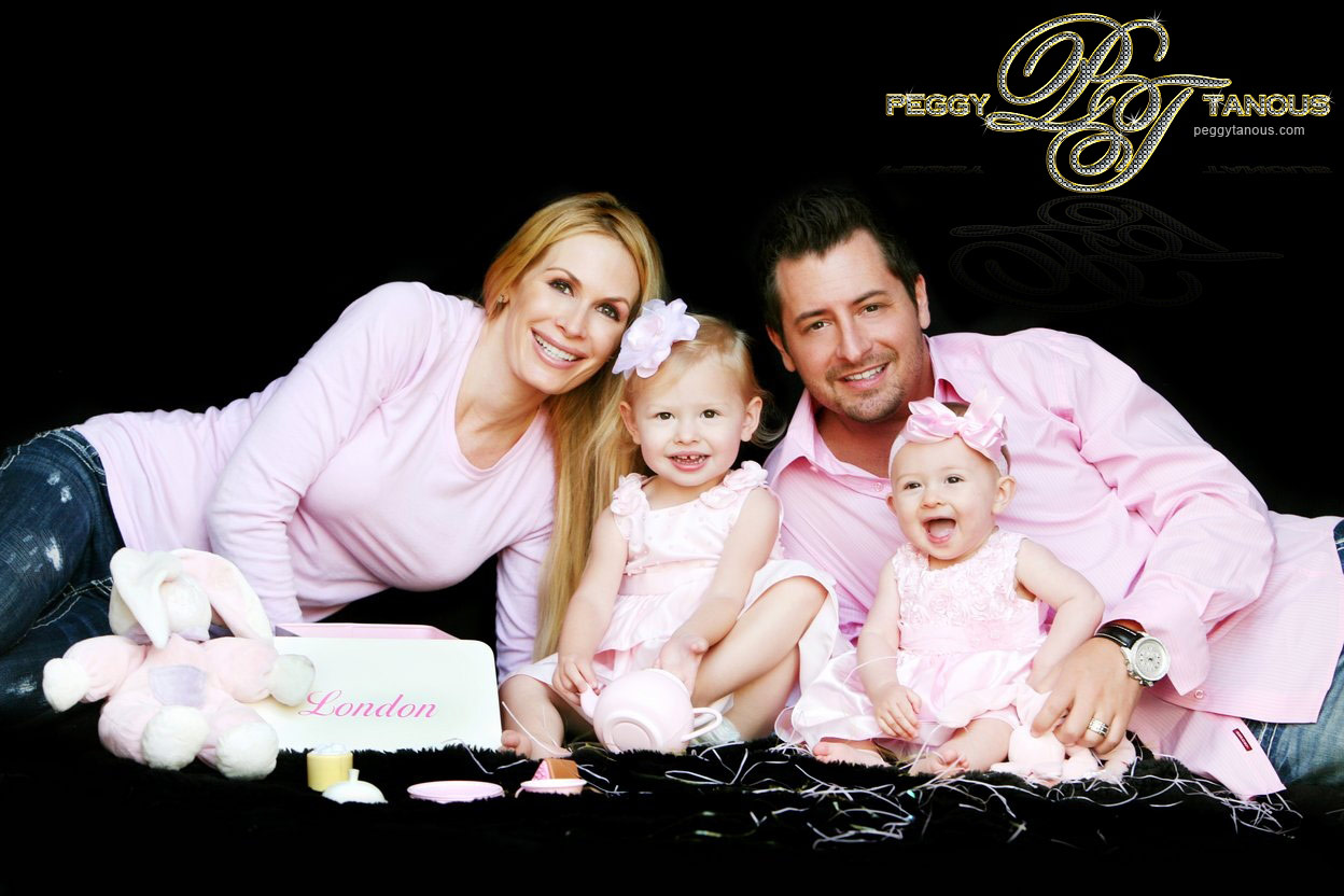 Peggy Tanous Micah Tanous and their two daughters