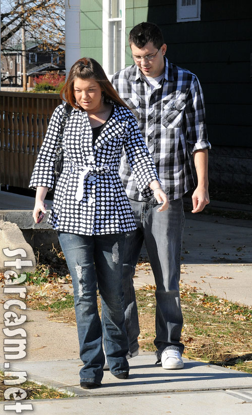Teen Mom Amber Portwood and her boyfriend Clinton Yunker in Anderson Indiana