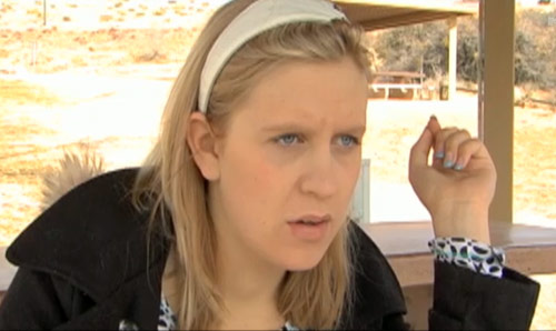 Aubrey Wolters Akerill screen capture from her 16 and Pregnant Season 2b episode