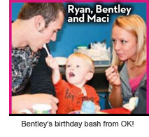 Ryan Edwards, Bentley and Maci Bookout at Bentley's 2nd birthday party