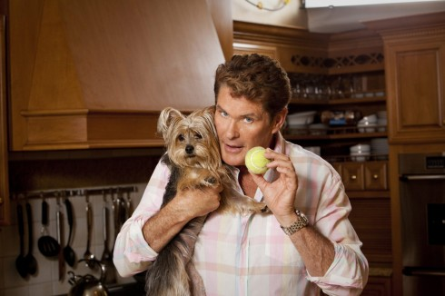 David Hasselhoff's dog gets help with it's tennis ball addiction in episode 2 of The Hasselhoffs