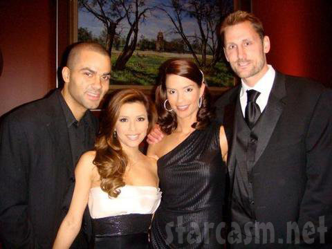 Tony Parker, Eva Longoria, Erin Barry and Brent Barry