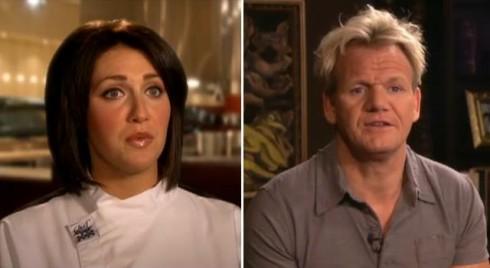 Hell's Kitchen Season 7 winner Holli Ugalde and Chef Gordon Ramsay