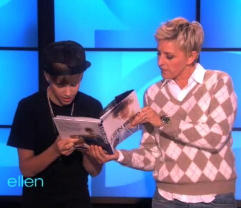 VIDEO: Justin Bieber crashed Ellen sings Katy Perry's