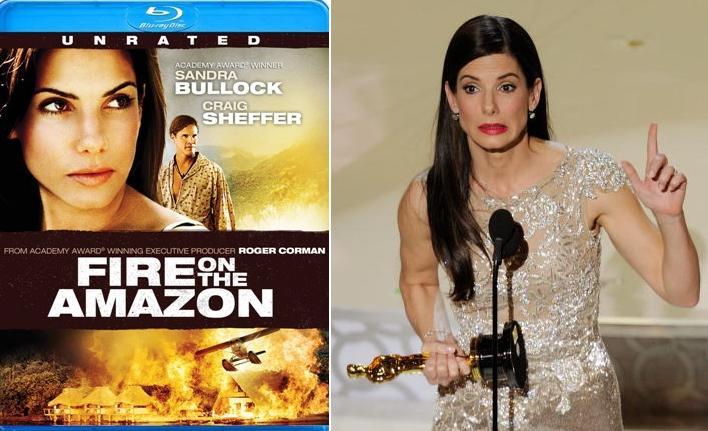 VIDEO: Fire on the Amazon, Sandra Bullock's only nude ...